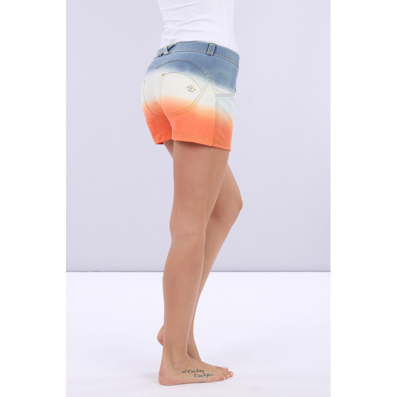 WR.UP® Denim Shorts - Regular Waist - True Denim - Sunset Print - JWA