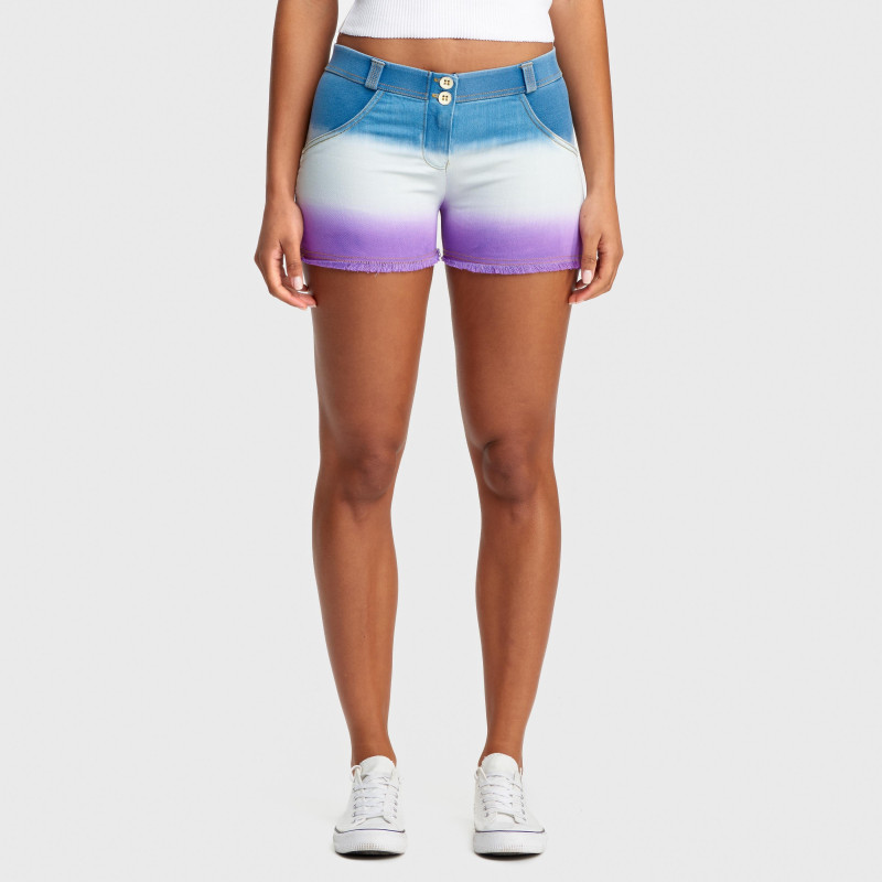 WR.UP® Denim Shorts - Regular Waist - True Denim - Dark Sunset Print - JWE