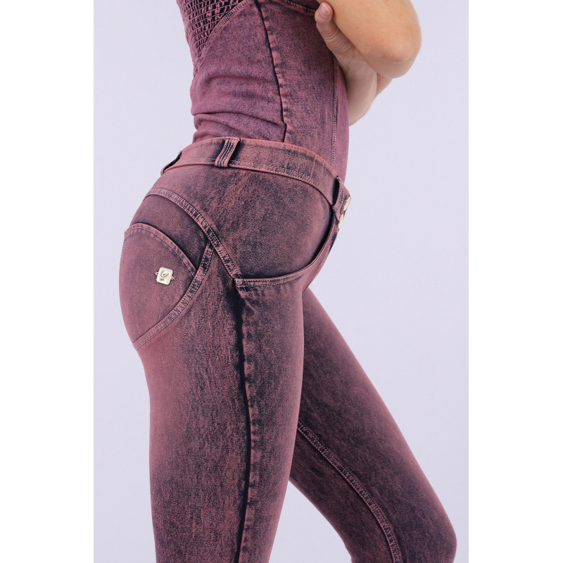 WR.UP® Denim - 7/8 Regular Waist Super Skinny - Marmor Optik - Denim Pink - J57F