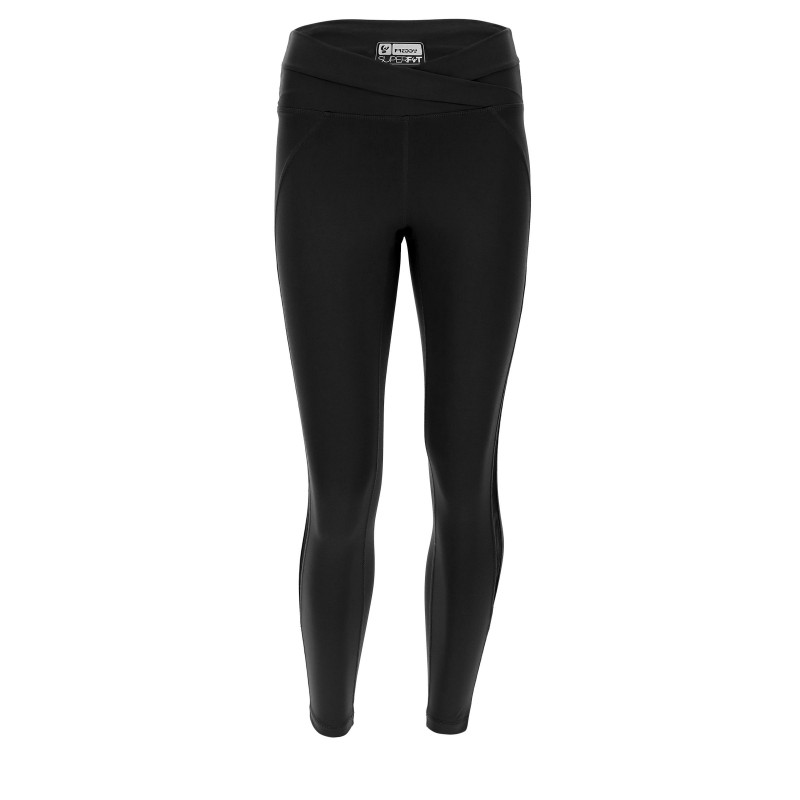 Leggings SUPERFIT - D.I.W.O.® - 7/8 - überkreuzter Bund - Black - N0