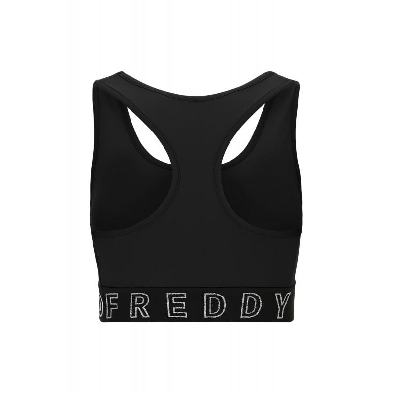 Freddy Top - mit Racerback-Rücken und glitzerndem Logo - Black - N0