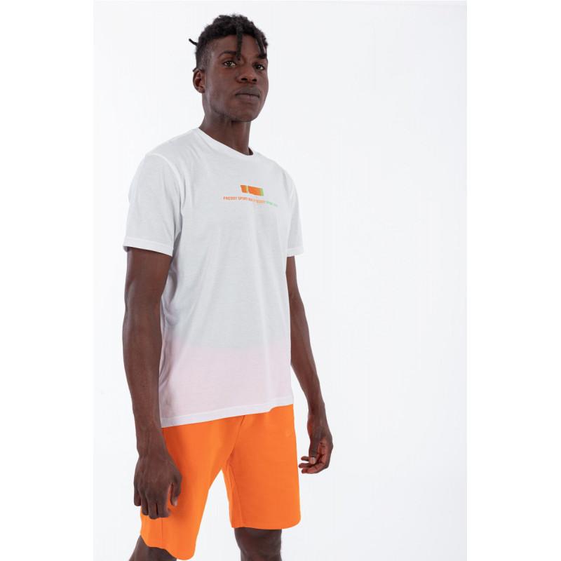 Herren T-Shirt - Logo mit Dégradé-Effekt - White - W0