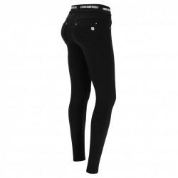 Leggings SUPERFIT - 7/8 - Melange Black - Coral - N26QA-