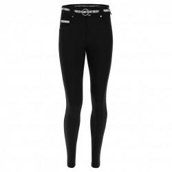 Leggings SUPERFIT - 7/8 - Melange Black - Fuchsia Red - N26QF-