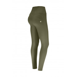 Leggings SUPERFIT - 7/8 - Black Melange - Fuchsia-Coral - NQFA-