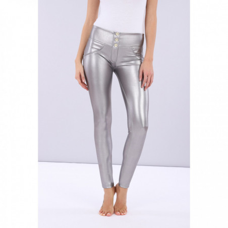 WR.UP® Ecoleder - Mid Waist Skinny - Opaque Metallized - Silver - S22