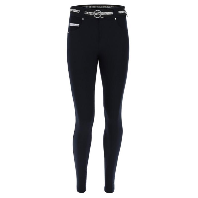 N.O.W.® Pants - Mid Waist Skinny - Navy Blue - B940