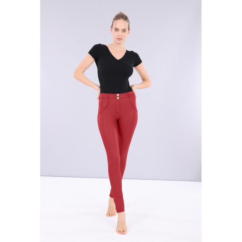 WR.UP® Ecoleder - Low Waist Skinny - Deep Claret Red - R680