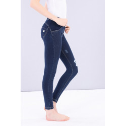 WR.UP® Denim - Low Waist Skinny - Dark Denim-Yellow Seam - J0Y