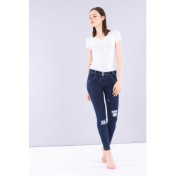 WR.UP® LOW WAIST SKINNY Denim effect - J0B - Dark Denim-Blue Seam
