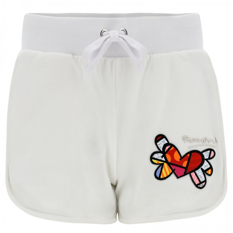 Shorts With Winged Heart Patches - Romero Britto Collection