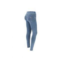 WR.UP® Denim - Mid Waist Skinny - Dark Denim - Blue Seam - J0B