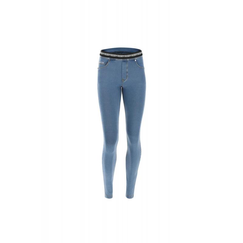 WR.UP® Denim - Mid Waist Skinny - J0B - Dark Denim - Blue Seam