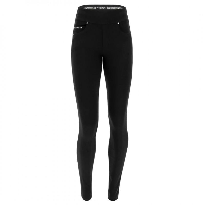 N.O.W.® Yoga - Skinny mit umschlagbarem Taillenbund - Black - N0