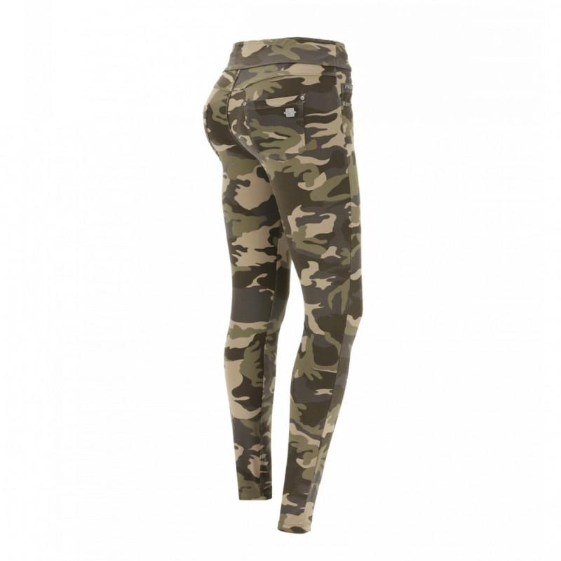 N.O.W.® Yoga - Skinny mit umschlagbarem Taillenbund - Camouflage - M95M