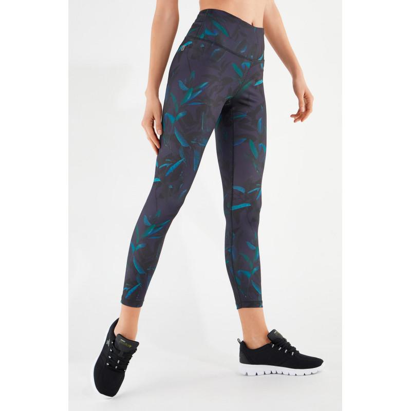 Energy Pants® - D.I.W.O® - High Waist Skinny - 7/8 - Flower-Print - FLO140