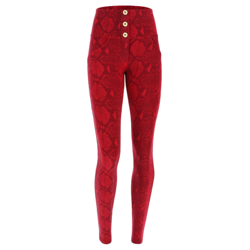 WR.UP® - High Waist Skinny - Snake-Print - Reptile Red - R111G0