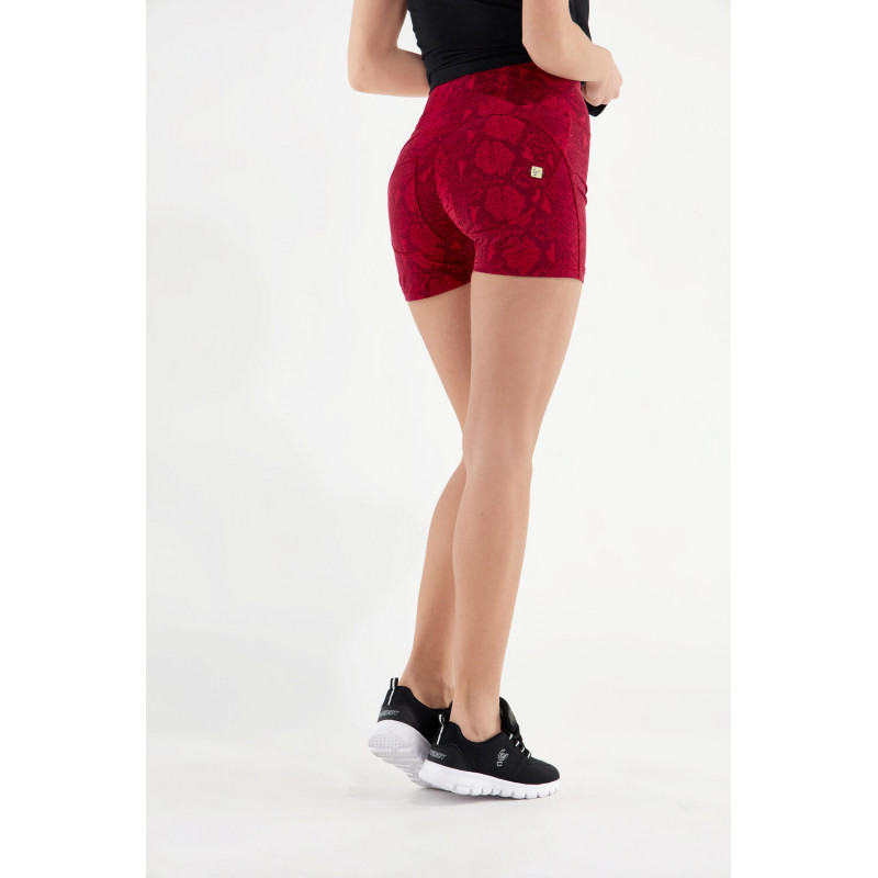 WR.UP® Shorts - High Waist - Snake-Print - Reptile Red - R111G0