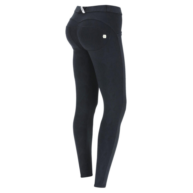 WR.UP® - High Waist Super Skinny mit Karomuster - Black and White - NW