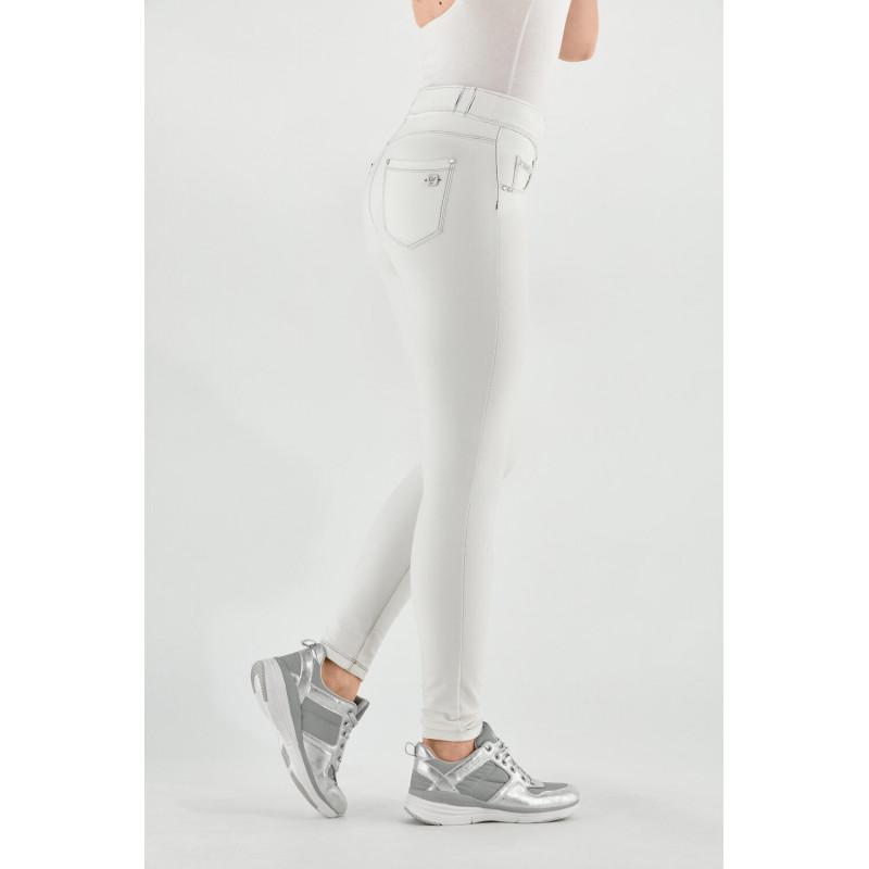 N.O.W.® Pants - Mid Waist Skinny - White - W0