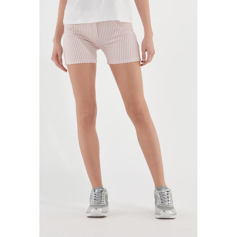 WR.UP® Shorts - Regular Waist - Rose Cloud - White Stripes - P340W0