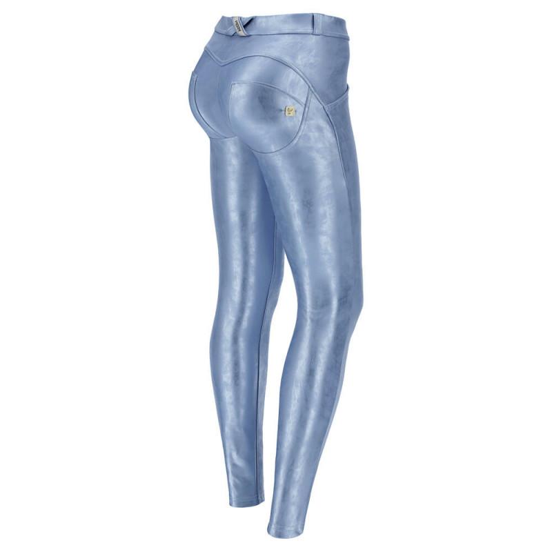 WR.UP® - Regular Waist Skinny - Metallic Effekt - Silver-Blue - S210