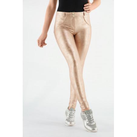 WR.UP® - Regular Waist Skinny - Metallic Effekt - Pink-Gold - PO1040