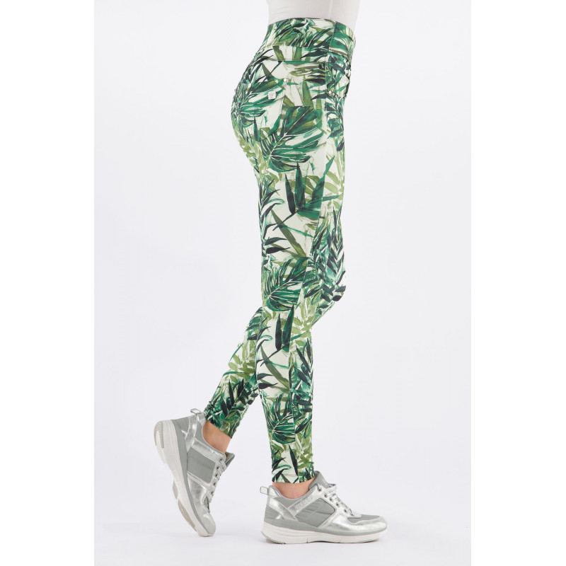 N.O.W.® D.I.W.O.® Yoga - Skinny mit umschlagbarem Taillenbund - Jungle-Print - FLO10