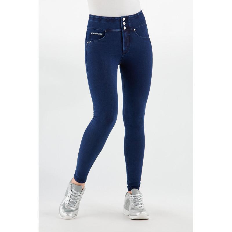 N.O.W.® Pants - High Waist Skinny - Dark Denim - Blue Seam - J0B