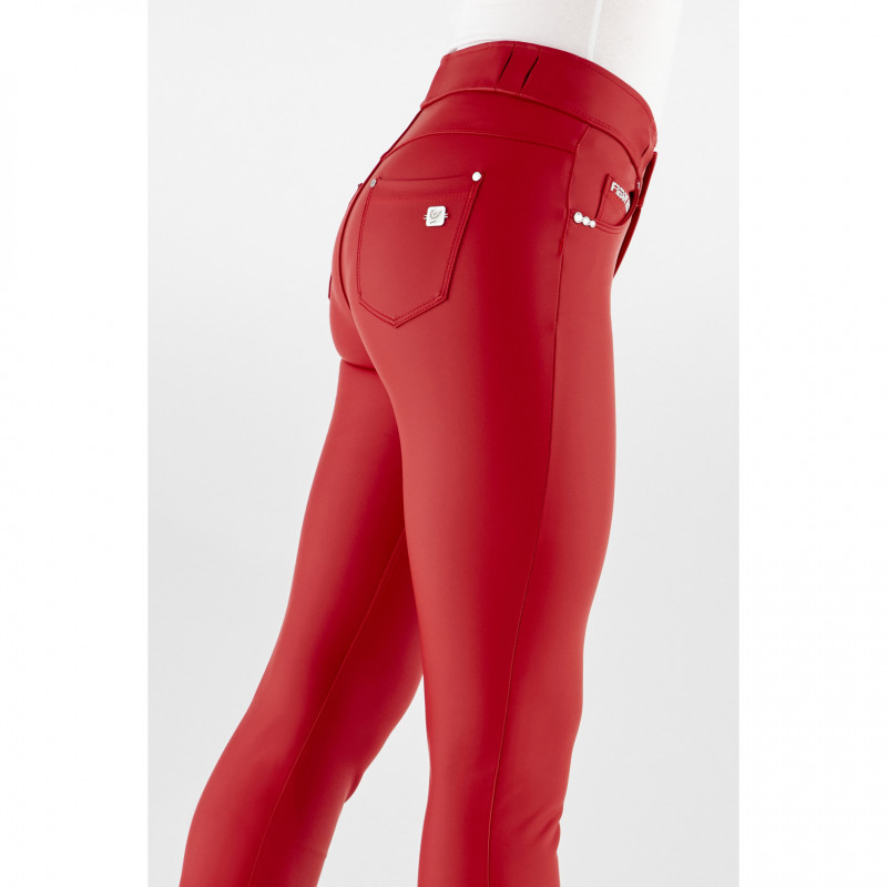 N.O.W.® Ecoleder - Mid Waist Skinny - Haute Red - R1080