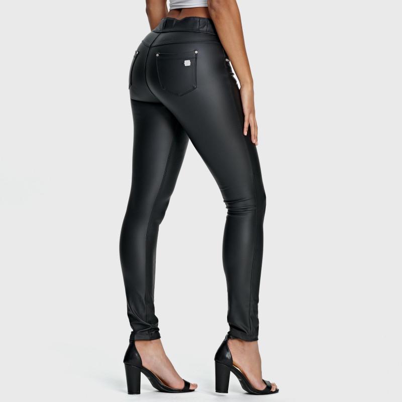 N.O.W.® Ecoleder - Mid Waist Skinny - Black - N0