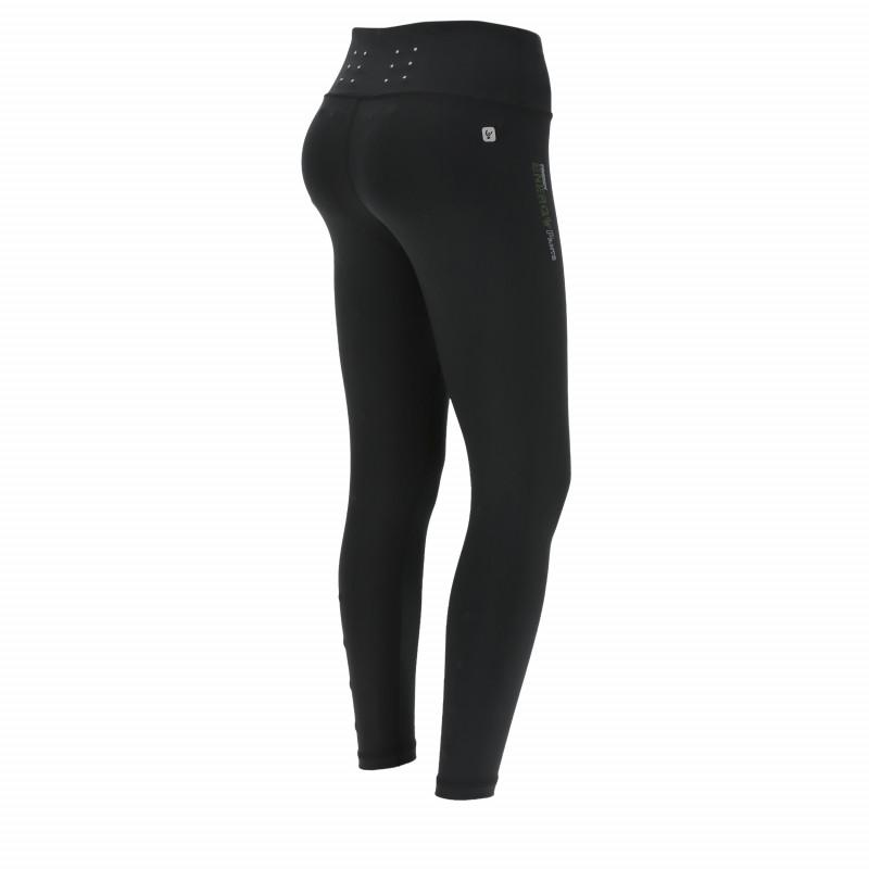 Energy Pants®  - D.I.W.O® - High Waist Skinny - 7/8 - reflektierende Details - Black - N0