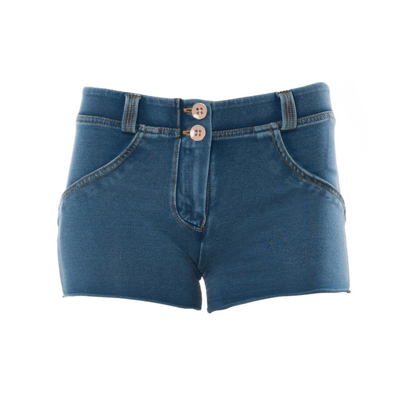 WR.UP® Denim Shorts - Regular Waist - Clear Denim - Yellow Seam - J4Y