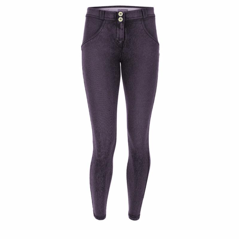 WR.UP® Denim - 7/8 Regular Waist Super Skinny - Marmor Optik - Denim Purple - J51N