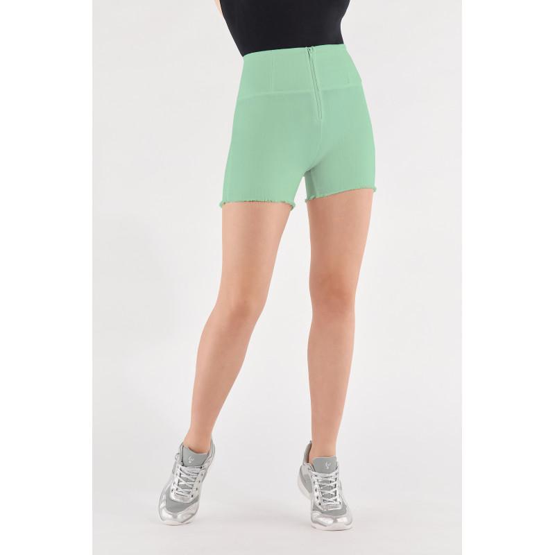WR.UP® Denim Shorts - High Waist -  Green Ash - D50
