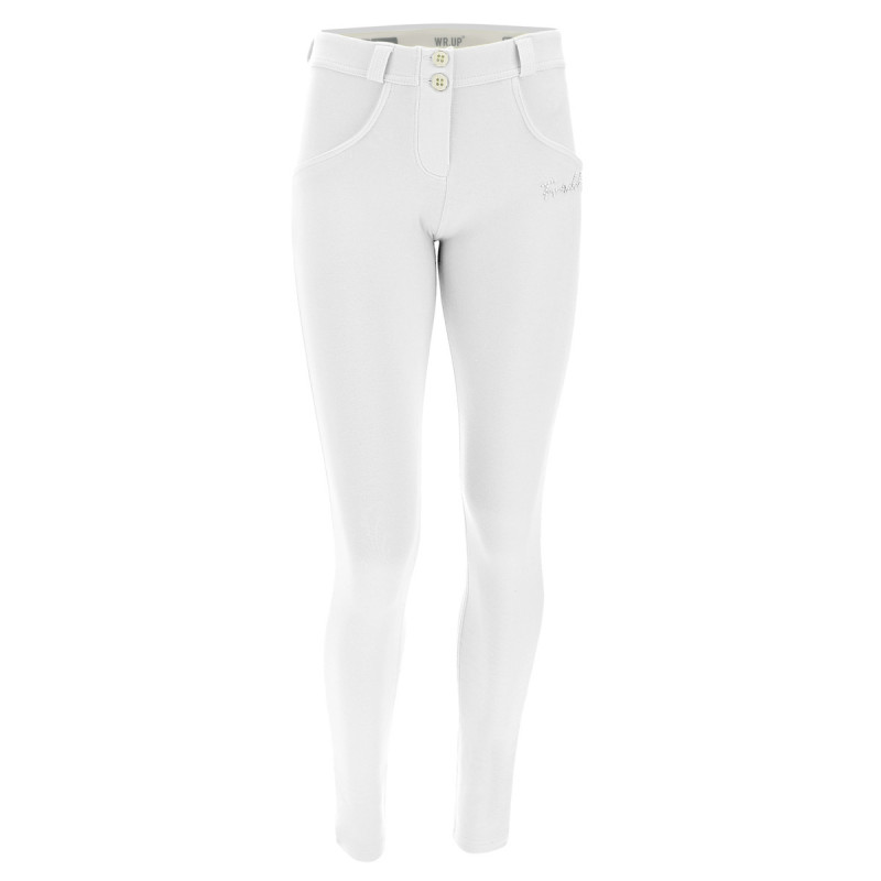 WR.UP® Denim - Regular Waist Skinny mit Denim-Effekt - J4Y - Clear Denim-Yellow Seam