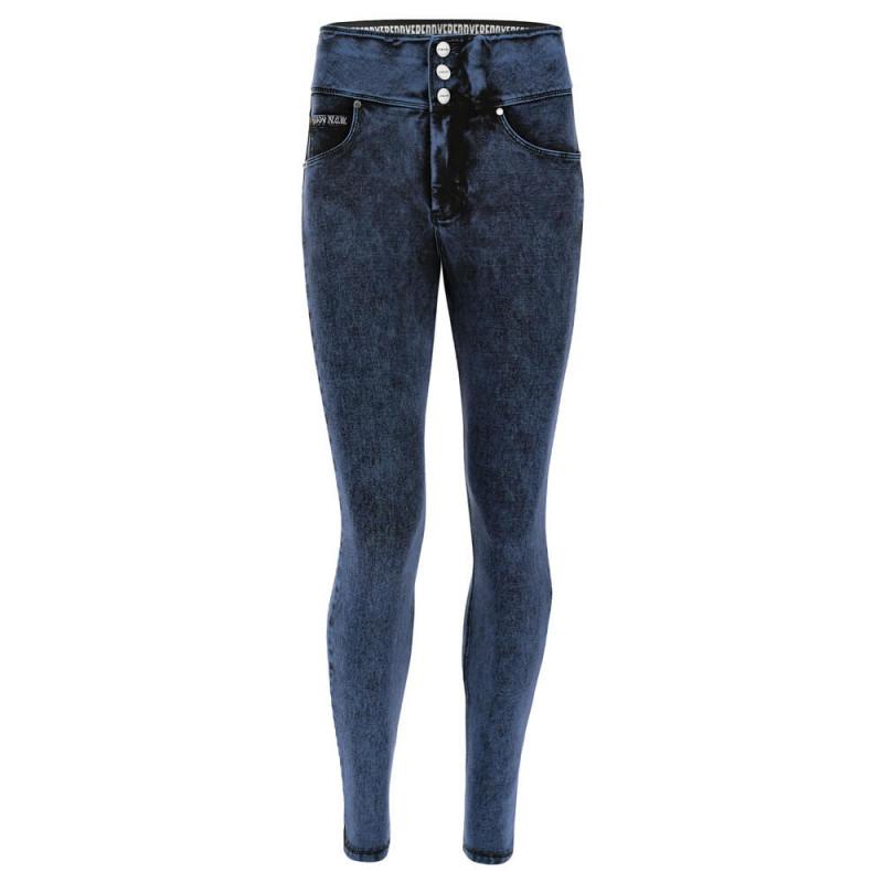 N.O.W.® Pants - High Waist Skinny - Marmor Optik - Denim Blue - J76B