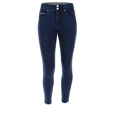 N.O.W.® Pants - Mid Waist Skinny - 7/8 - Dark Denim - Blue Seam - J0B