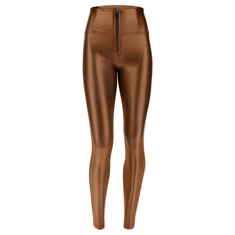 WR.UP® - High Waist Skinny - Coated D.I.W.O.® - Wet Effect - Bronze - BRZ1