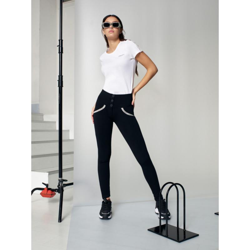 WR.UP® - High Waist Skinny mit Shaping-Effekt aus Ecoleder