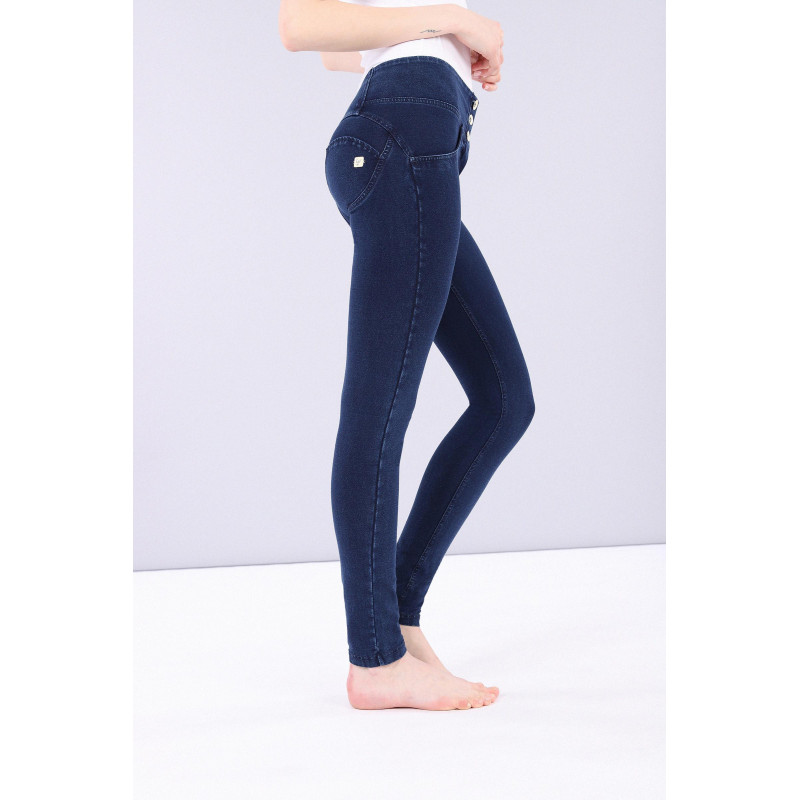 WR.UP® Denim - Mid Waist Skinny - Dark Denim - Blue Seam - J0B