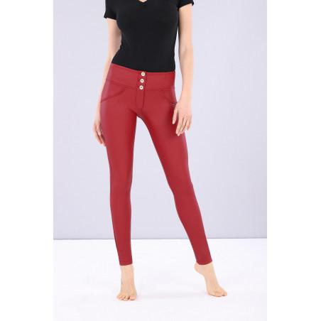 WR.UP® Ecoleder - Mid Waist Skinny - Deep Claret Red - R680