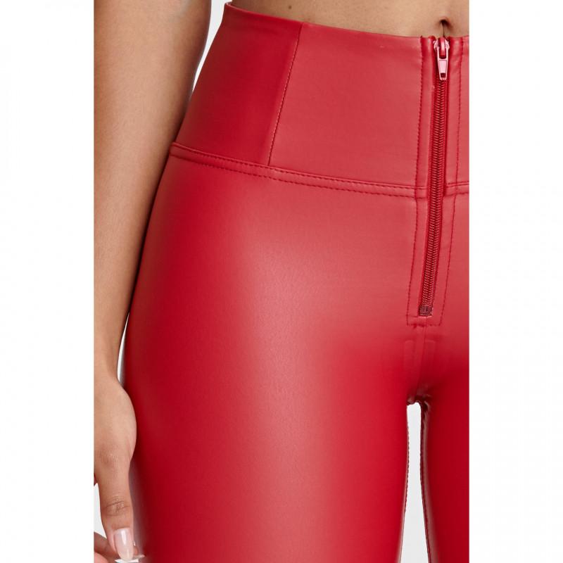 WR.UP® Ecoleder - High Waist Skinny - Deep Claret Red - R680